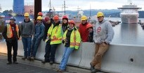 IMTARC SRELT students learning at the Esquimalt Graving Dock