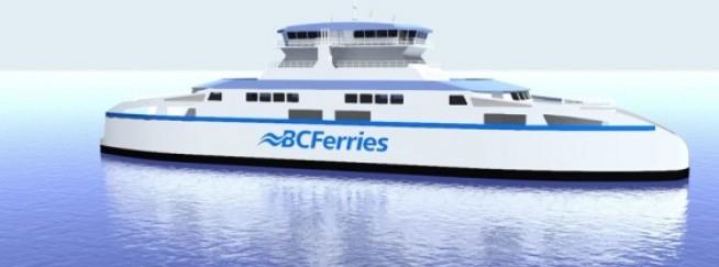 Artist's rendering of the new B.C. Ferries intermediate-class vessel. Credit: B.C. Ferries - See more at: http://www.timescolonist.com/news/